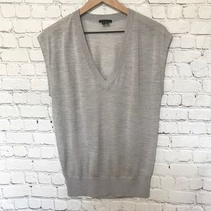 Theory Wool pull-over varsity sweater vest Large